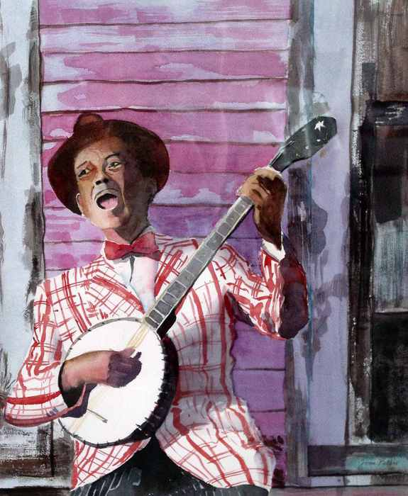 The-Banjo-Player (575x700, 48Kb)