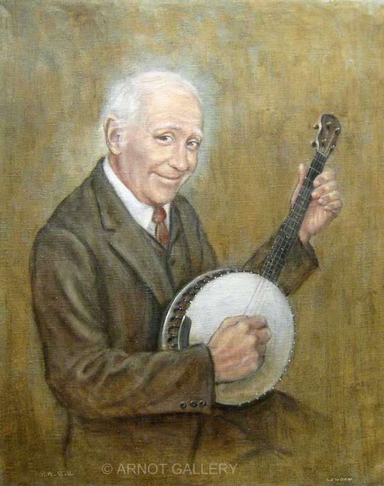 Peter-Bill-The-Banjo-Player-30x24-Original-Oil-Painting-London (553x700, 122Kb)
