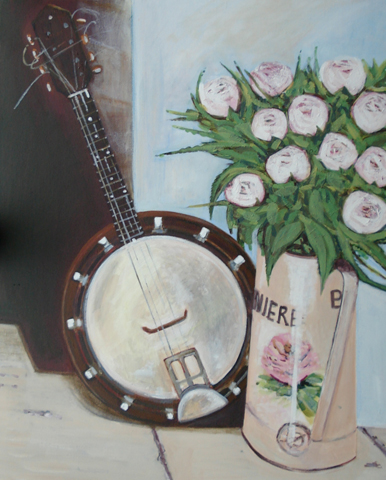 Banjo-and-roses (386x480, 156Kb)
